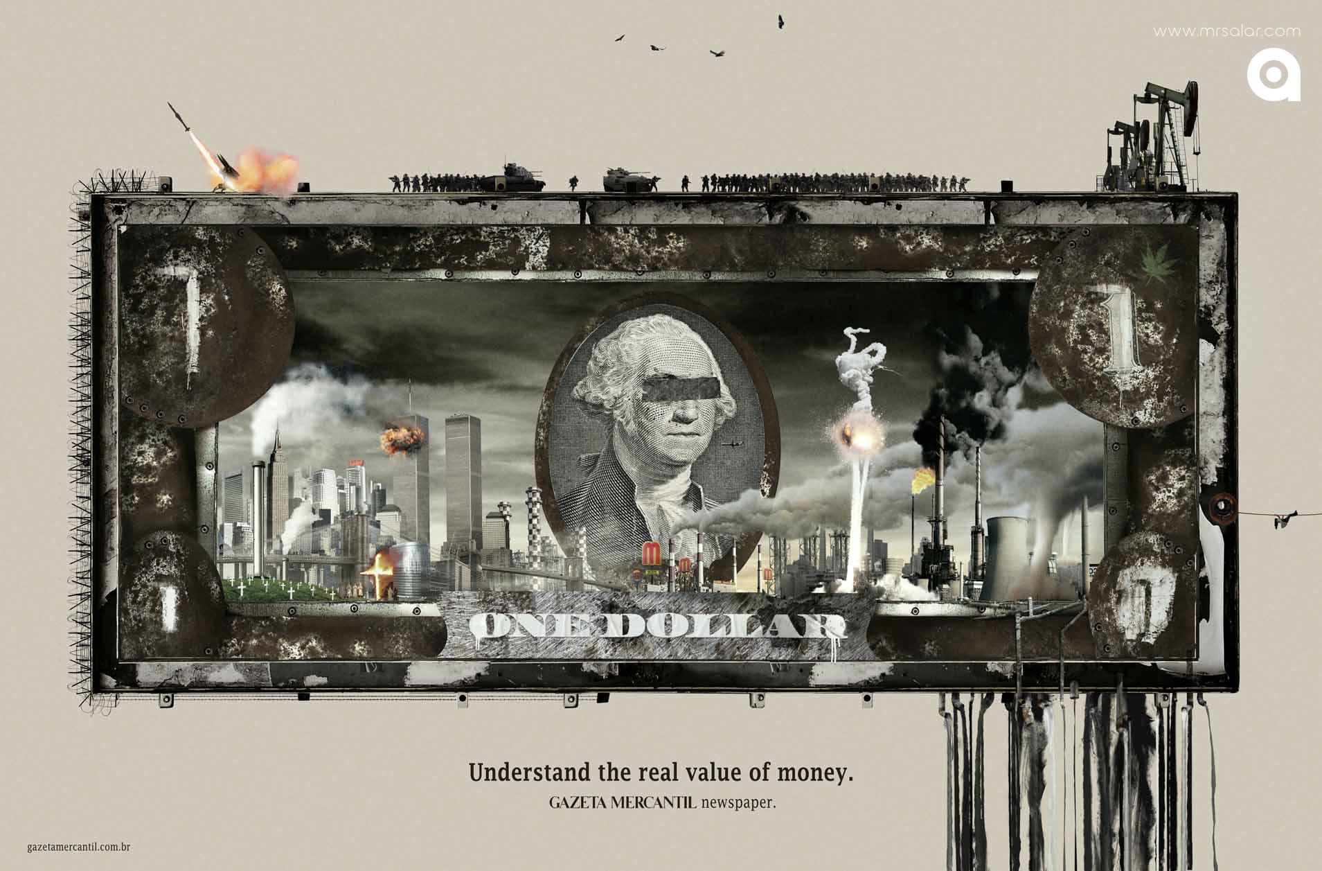 تصویر تبلیغاتی رسانه خبری Gazeta Mercantil: دلار