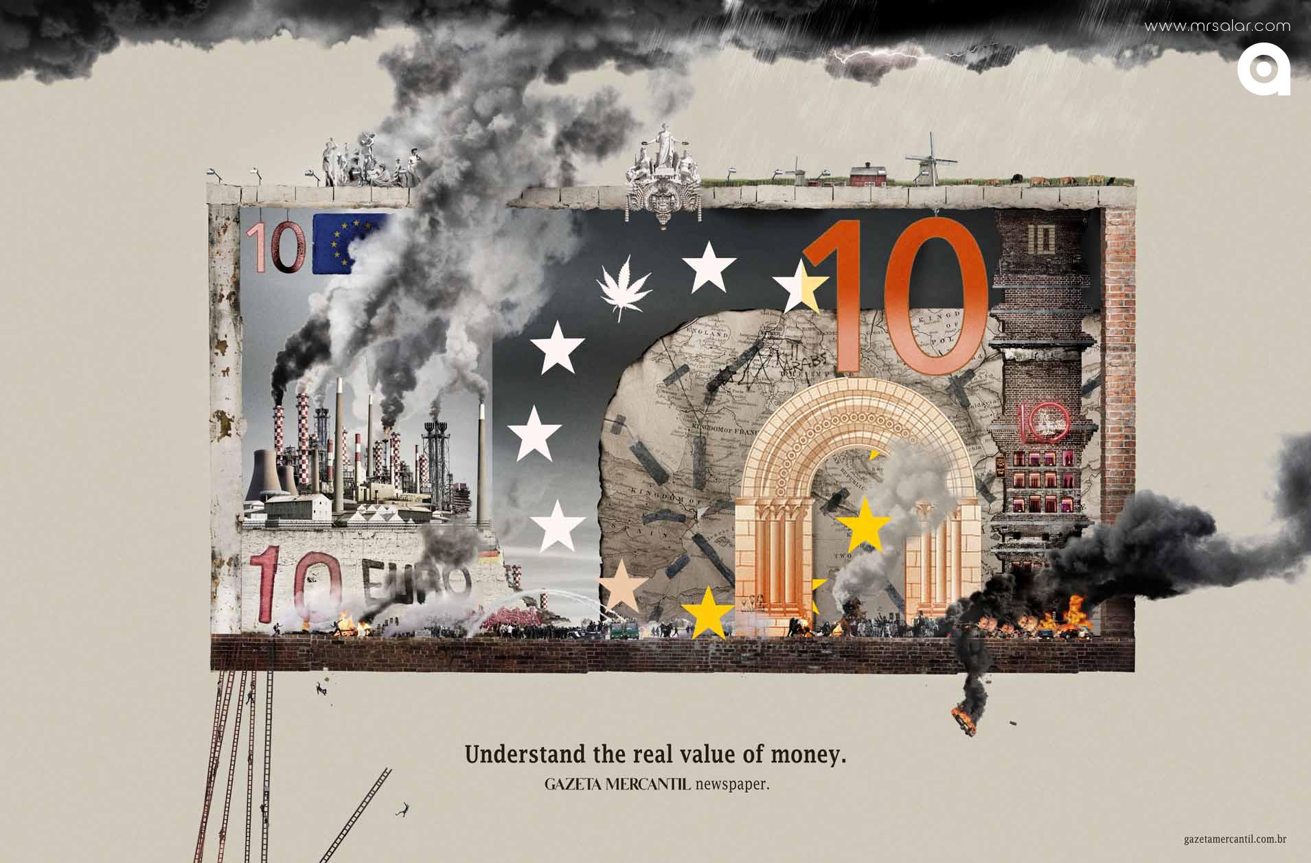 تصویر تبلیغاتی رسانه خبری Gazeta Mercantil: یورو