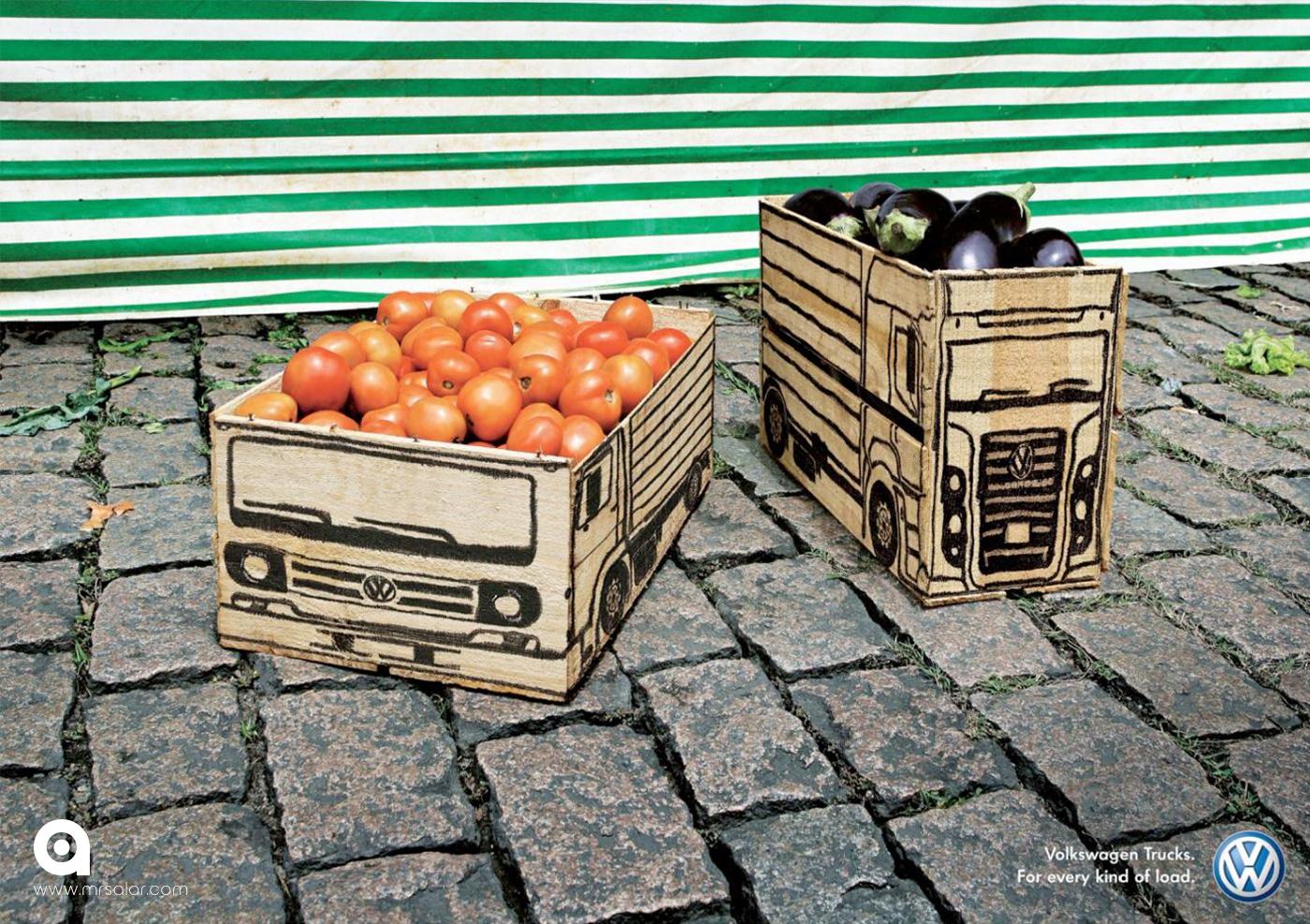 تصویر تبلیغاتی فولکس واگن: سبزیجات