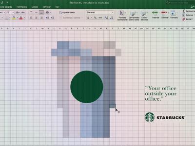 تصویر تبلیغاتی استارباکس: Excel