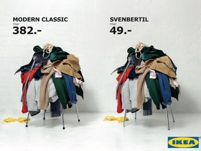 تصویر تبلیغاتی IKEA: صندلی Fritz Hansen و Svenbertil