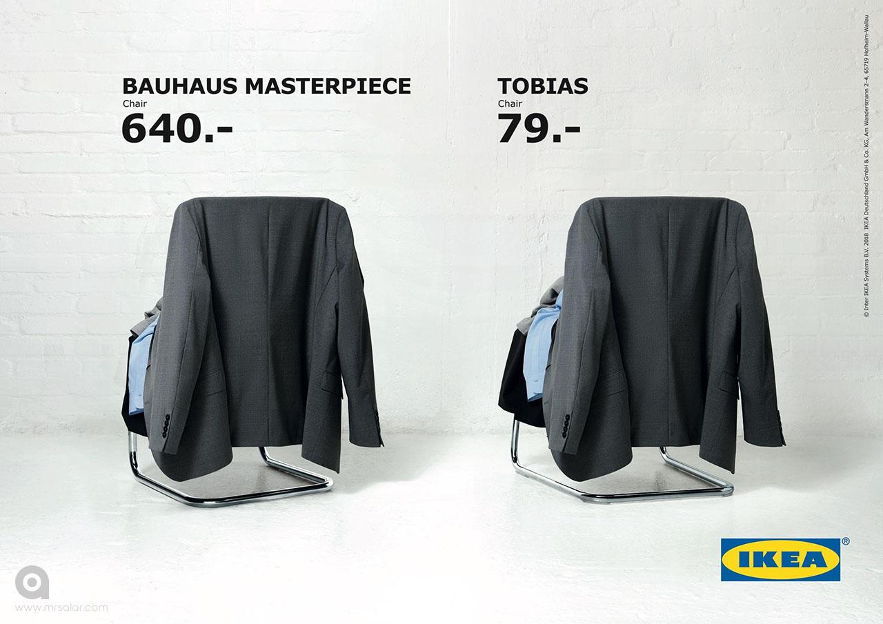 تصویر تبلیغاتی IKEA: صندلی Thonet و Tobias