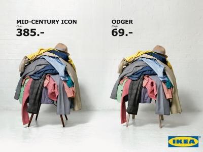 تصویر تبلیغاتی IKEA: صندلی Vitra و Odger