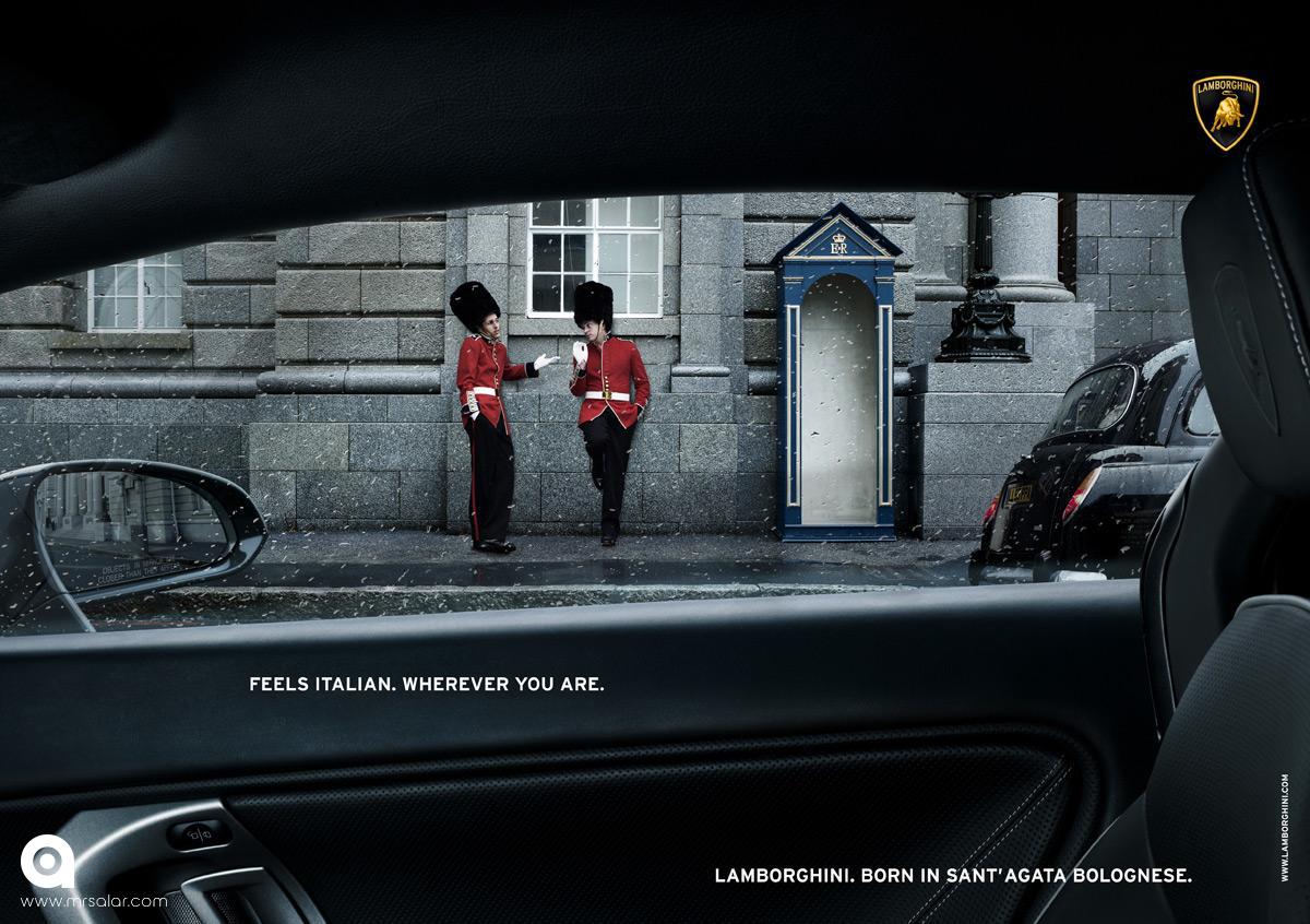 تصویر تبلیغاتی لامبورگینی حس ایتالیایی: گارد سلطنتی