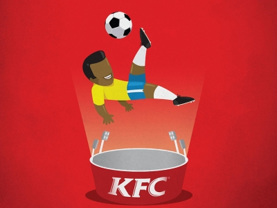 تصویر تبلیغاتی KFC هیجان بخشیدن: برگردون