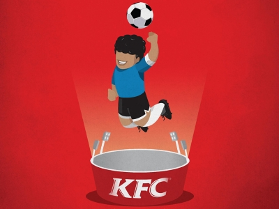 تصویر تبلیغاتی KFC هیجان بخشیدن: دست خدا