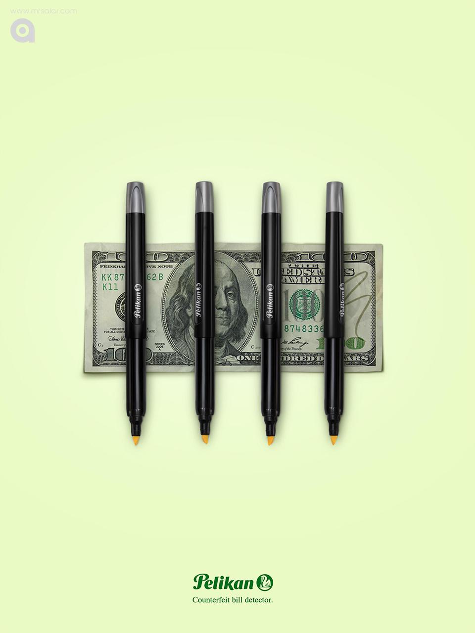 تصویر تبلیغاتی پلیکان: دلار