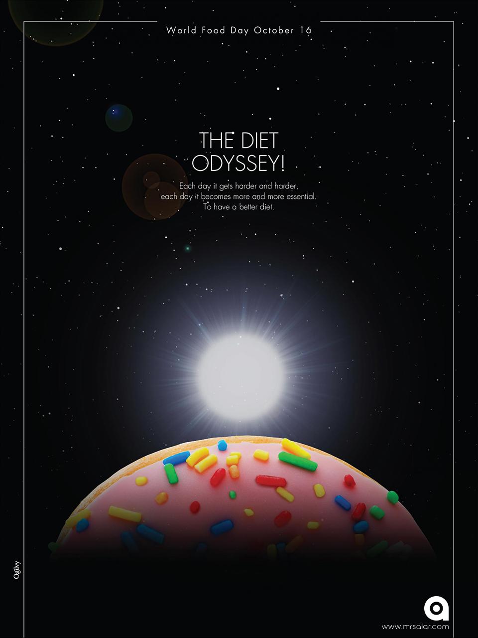 تصویر تبلیغاتی روز جهانی غذا: دونات