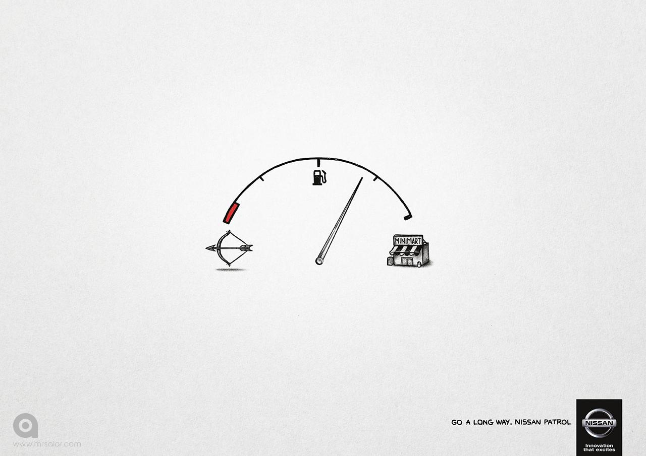 تصویر تبلیغاتی نیسان: طولانیتر برو ۱