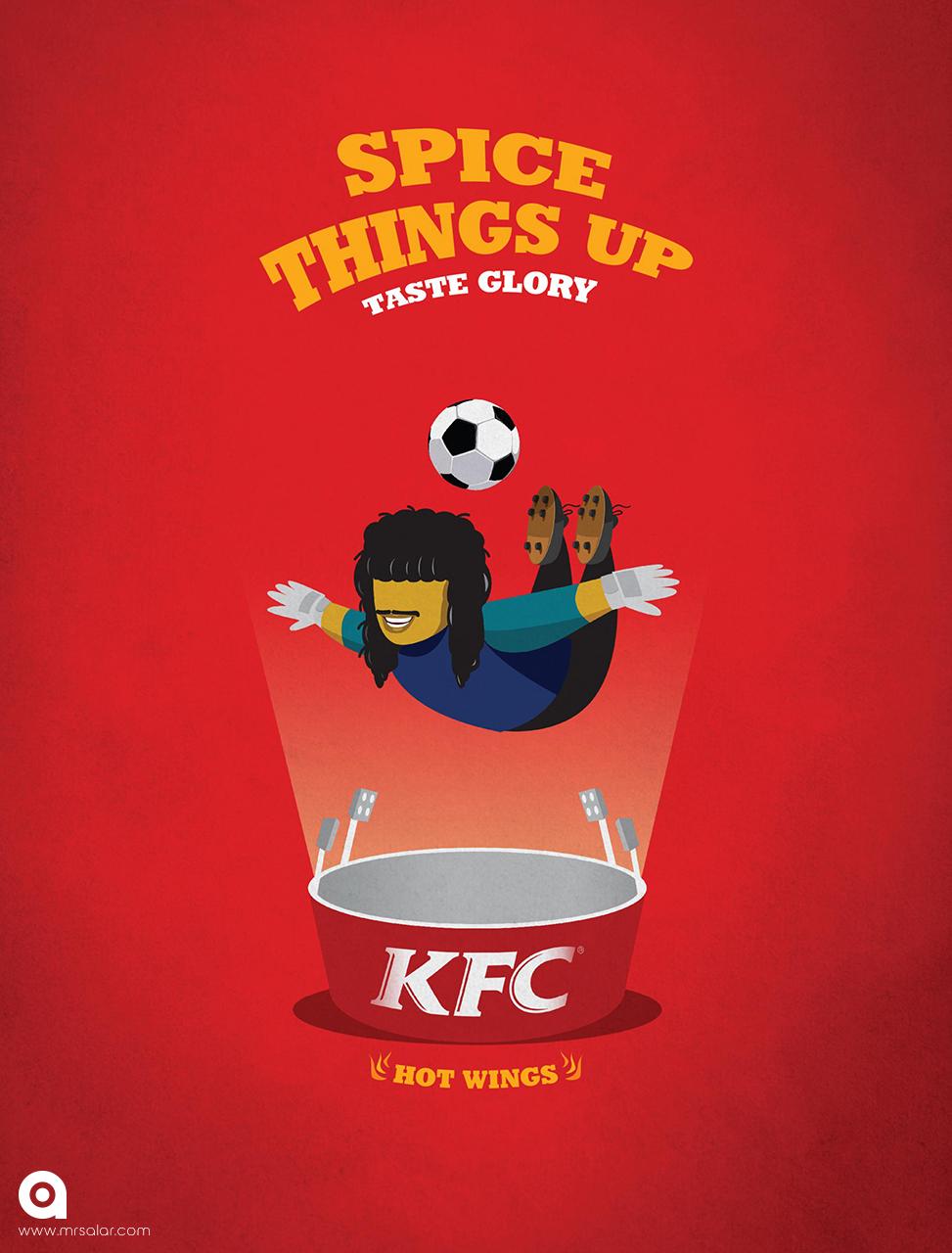 تصویر تبلیغاتی KFC هیجان بخشیدن: عقرب
