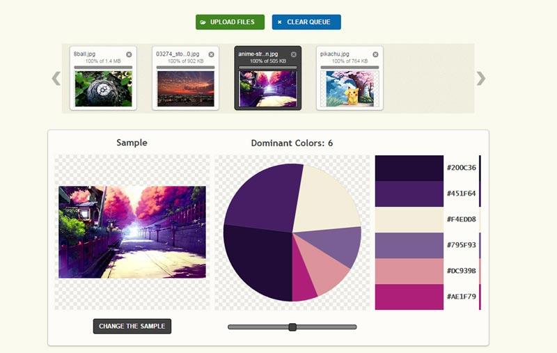 انتخاب رنگ سایت